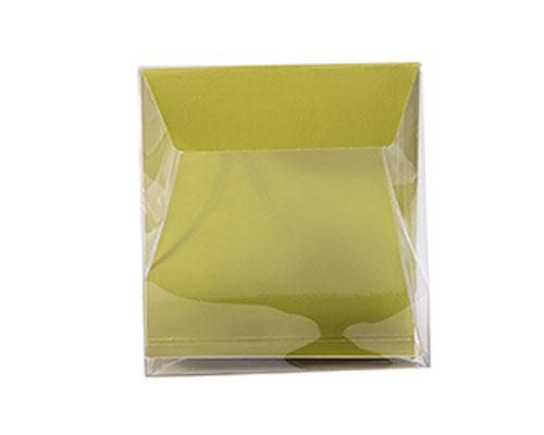 Pochette transparant L130xW50/H140mm almond
