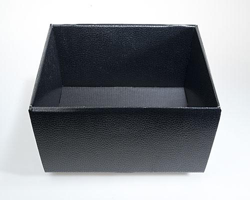 Basket square large 260x260x100mm shiny black