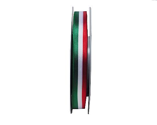 greenwhitered ribbon 15mm/50mtr