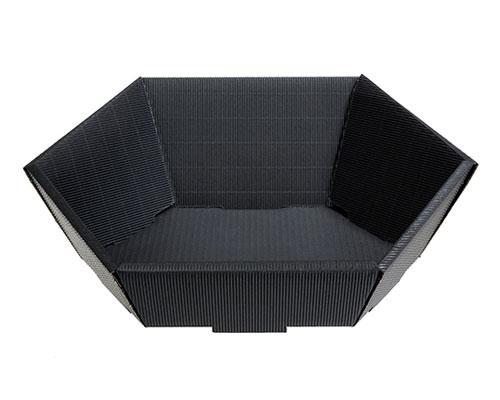 Basket hexa medium L305xW258mm front H75mm/ back H130mm black