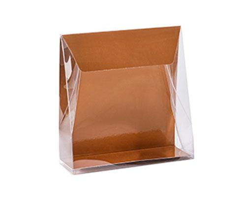 Pochette transparant L130xW50/H140mm hazelnut