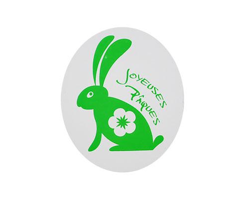 Joyeuses paques label green 500pcs