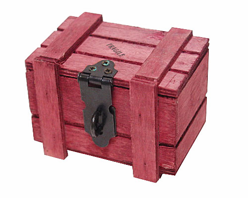 Crate Wood small, fraise