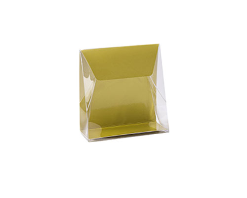 Pochette transparant L100xW50/H110mm almond