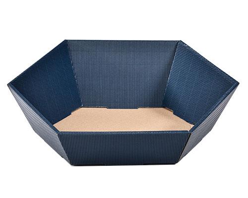 Basket hexa medium L305xW258mm front H75mm/ back H130mm saffier