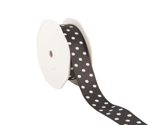 Ribbon dots 23mm/20mtr. col.09 black