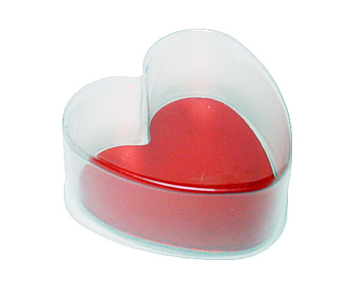 PVC Heartbox mini with redcarton L70xW70xH30mm