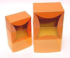 bilbao large 100x100x70mm orange/orange