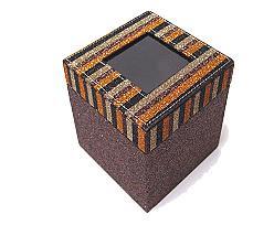 Box Classy window square large brown