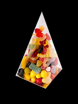 Pralinenschachtel PVC Pyramide