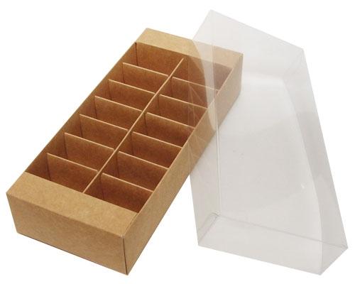 Macaron box 14 division kraft