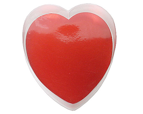 PVC Heartbox large with redcarton L160xW180xH30mm