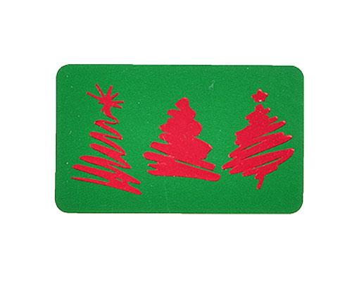 label 3 xmastree green/red 50x30mm rol/500st