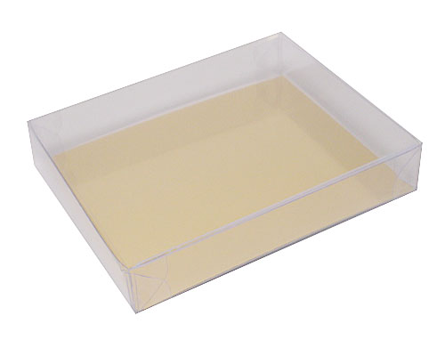 PVC L105xW86xH18mm transparant / for logochocolates