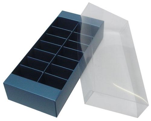 Macaron box 14 division sea blue