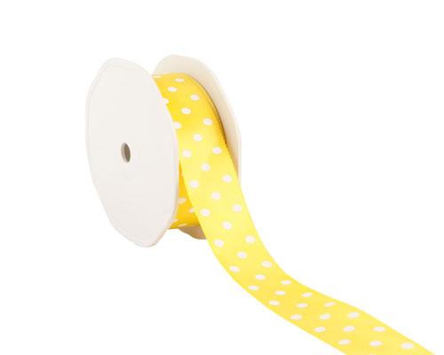 Ribbon dots 23mm/20mtr. col.15 yellow