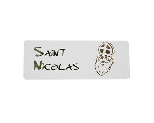 label saint nicolas white with gold 500pcs