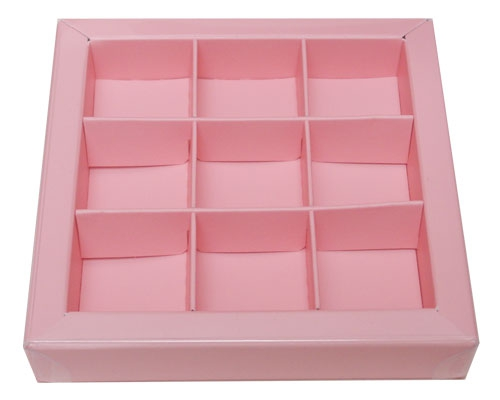 Windowbox 100x100x19mm 9 division lotus