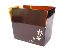 Ballotin Icestars 1000gram 172x103x86mm Chocolat Laqué