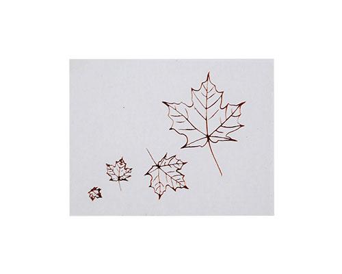 Autumn leaves label transparant with copper 500pcs