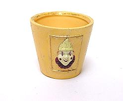 pot clown, creamgold
