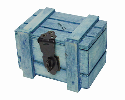 Crate wood , small, olive