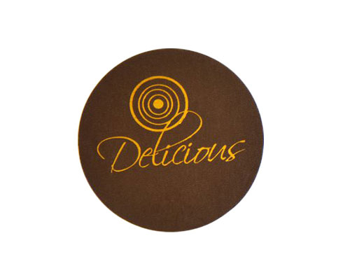 Delicious label brown with copper 500pcs