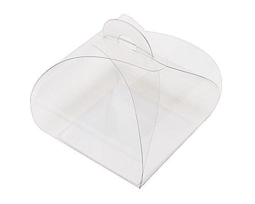 PVC take away box L55xW55xH50mm + silver cardboard
