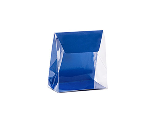 Pochette transparant L100xW50/H110mm ocean blue