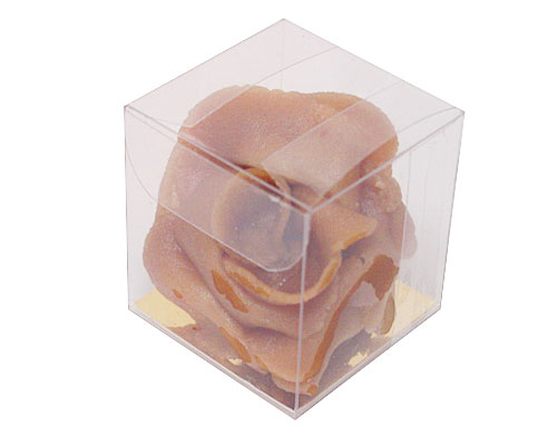 PVC folding box L40xW40xH40mm with goldcarton