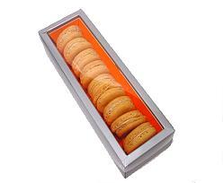 Macaron box 1 row silver orange Monaco