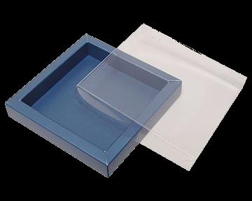 Pralinenschachtel aus Pappe in Kombination mit Klarsicht Material