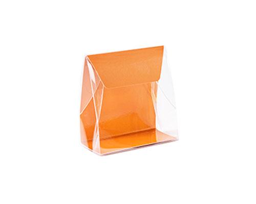 Pochette transparant L100xW50/H110mm sunset orange