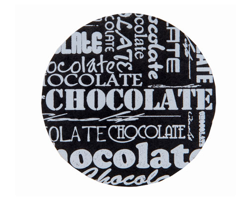 label chocolat black D30mm rol/500st
