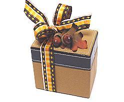 Box leather rectangular, brown black